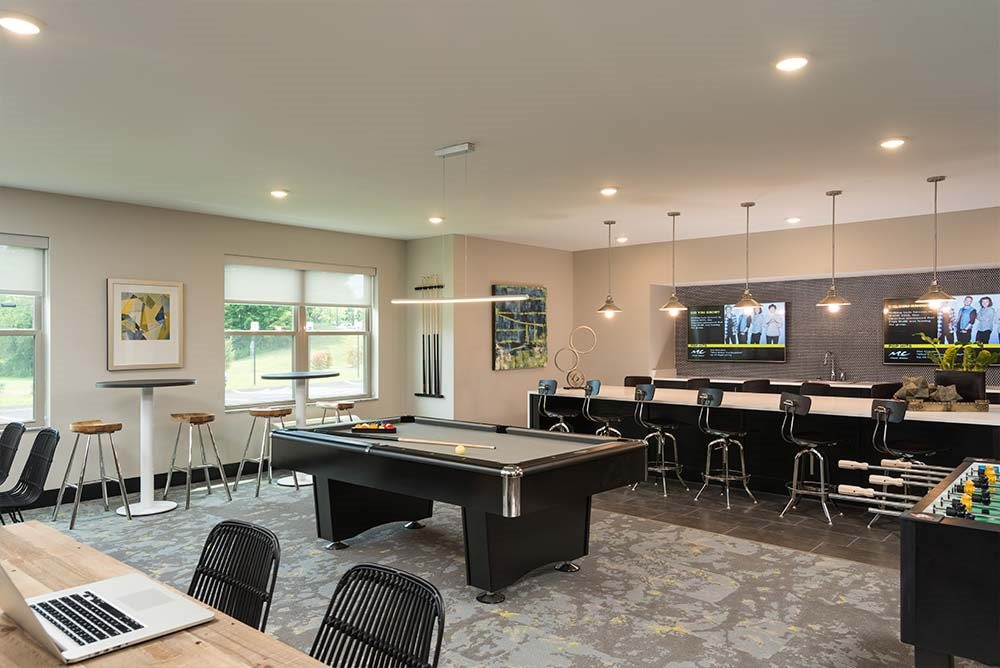 Billiards Table at College Suites at Hudson Valley, New York