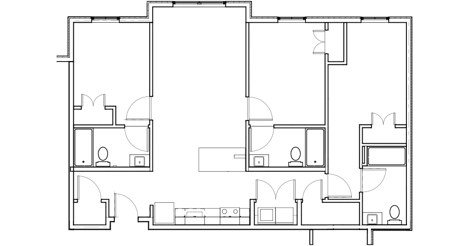 3 Bedroom/ 3 Bathroom Floor Plan 4