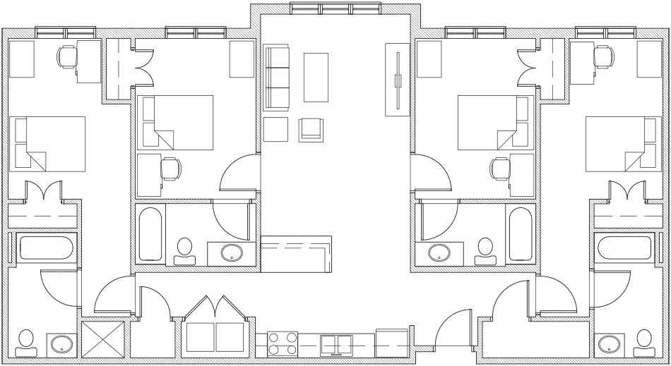 4 Bedroom / 4 Bathroom Floor Plan 5
