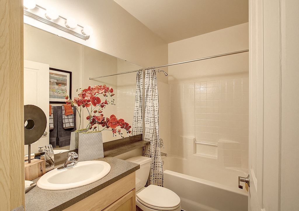 Luxurious Garden Tub, at Newberry Square Apartment Homes, Lynnwood, WA