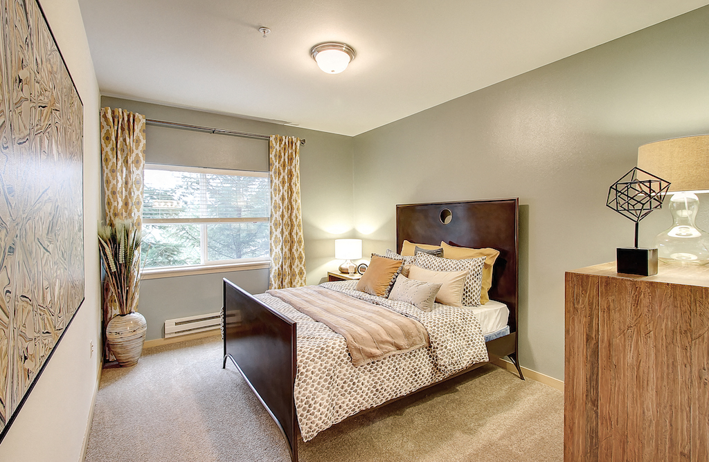 Private Master Bedroom, at Newberry Square Apartment Homes, 16116 Ash Way, WA