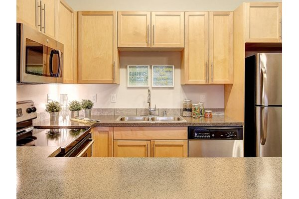 Granite-Inspired Counter Tops, at Newberry Square Apartment Homes, WA, 98087