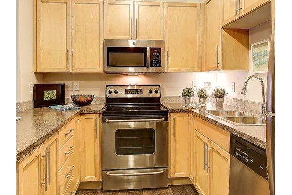 Over-the-Range Microwave, at Newberry Square Apartment Homes, Lynnwood, Washington