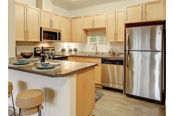Stainless Steel Appliances, at Newberry Square Apartment Homes, 16116 Ash Way, WA