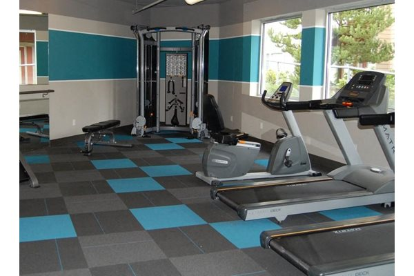 Fitness Center with Cardio Equipment And Free Weights, at Newberry Square Apartment Homes, 16116 Ash Way