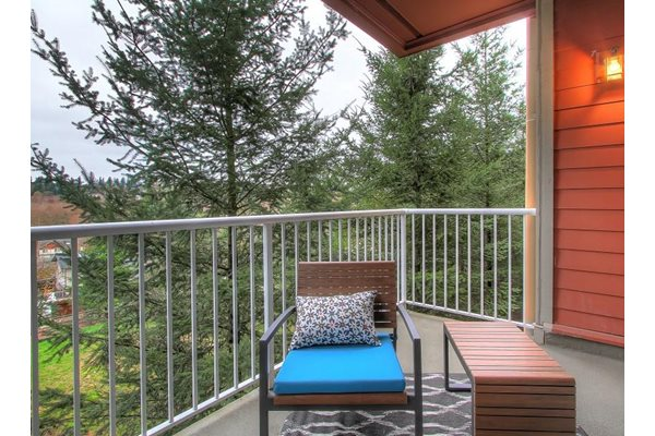 Private Patio/Balcony, at Newberry Square Apartment Homes, Washington, 98087