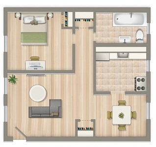 577-Square-Foot-One-Bedroom-Apartment-Floorplan-Available-For-Rent-Colonnade-Apartments