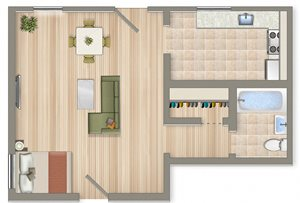 375 Square Foot Studio Apartment Available For Rent