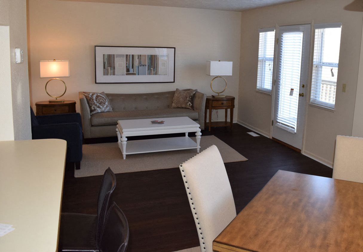 Townhome with Plank Flooring at Autumn Lakes Apartments and Townhomes in Mishawaka, Indiana 46544