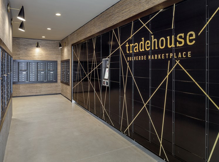 Package concierge at Tradehouse at Bulverde Marketplace, San Antonio, 78247