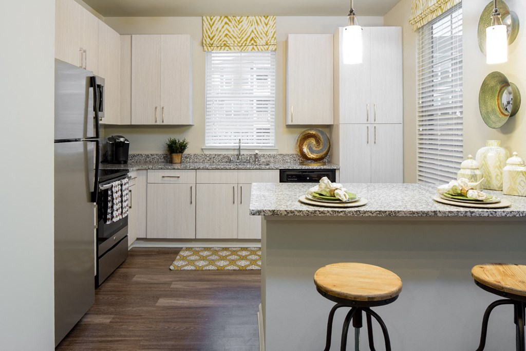 Modern Cabinetry at Abberly Market Point Apartment Homes by HHHunt, Greenville, South Carolina