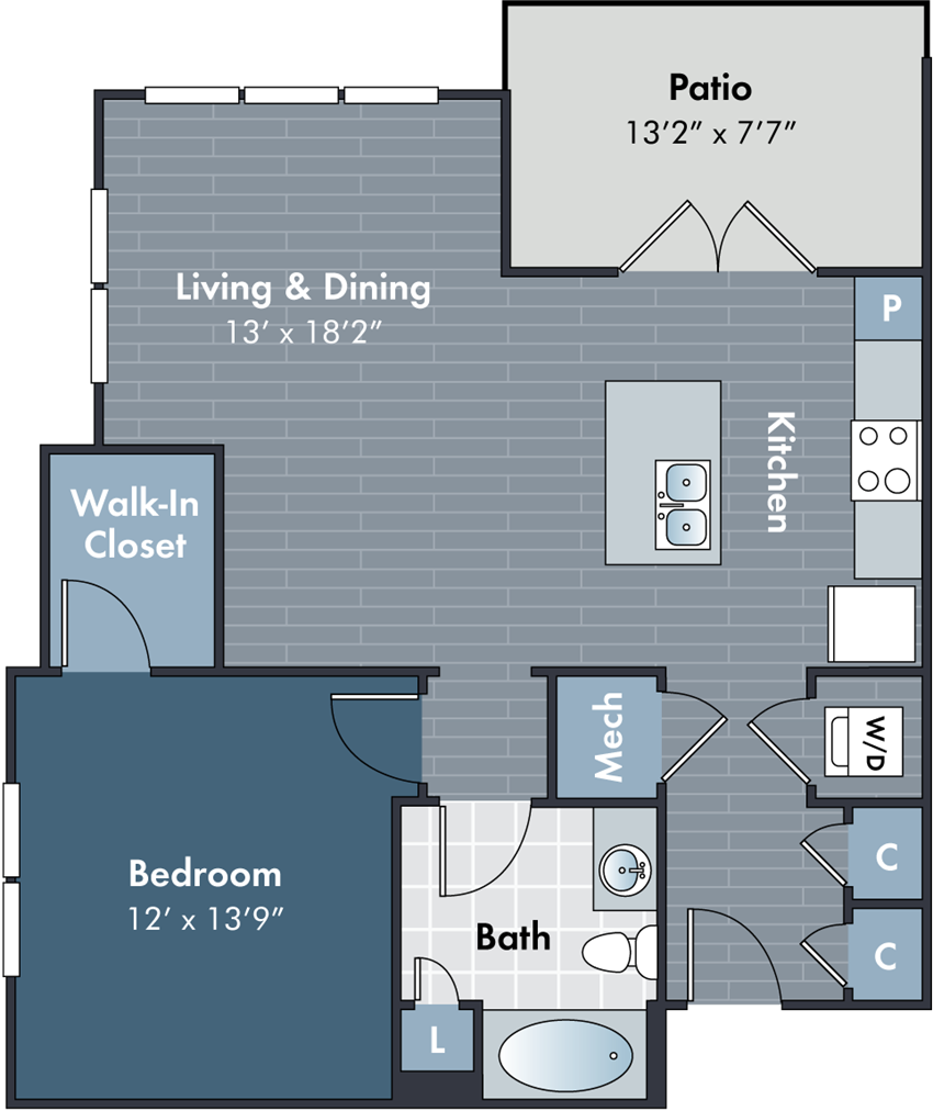 Marcley Floorplan at Abberly Market Point Apartment Homes by HHHunt, South Carolina