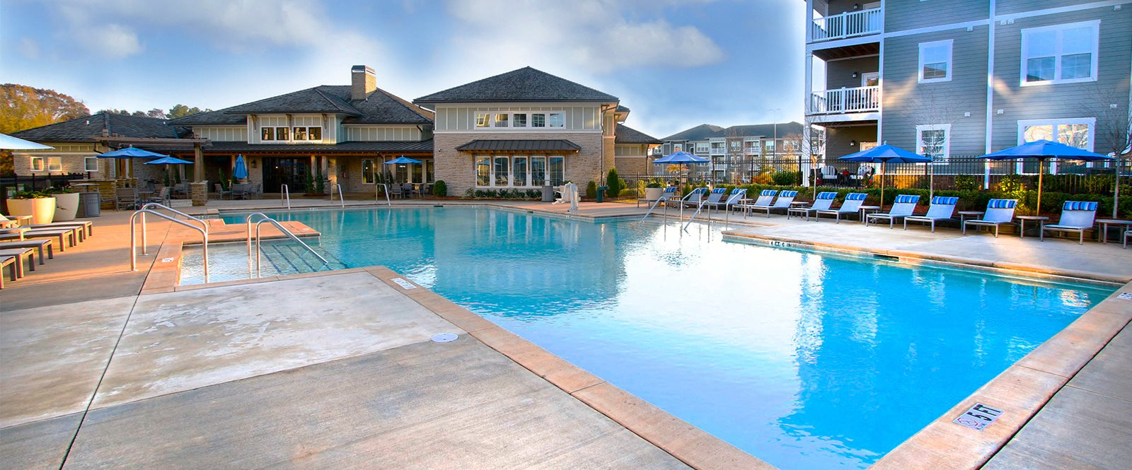 Resort Style Saltwater Pool at Abberly Market Point Apartment Homes, Greenville, SC, 29607