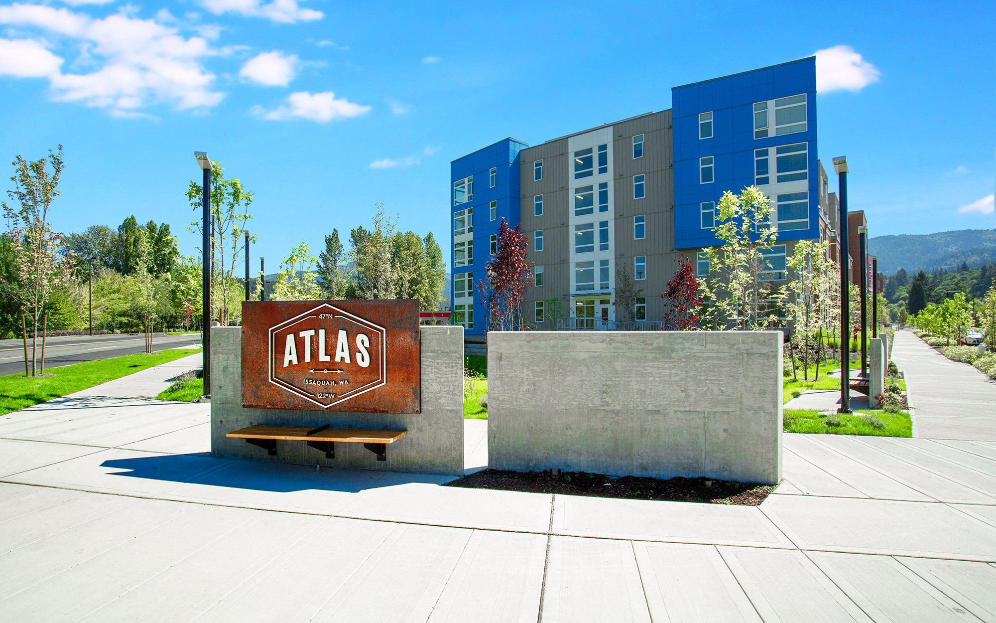 Atlas Apartments Monument Sign