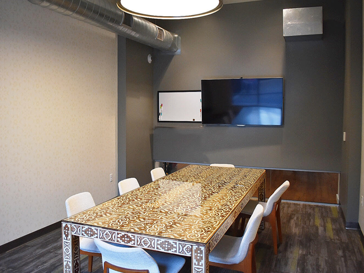 Bakery Living Conference Room, apartments in Shadyside Pittsburgh, PA