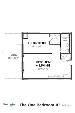 Bakery Living One Bedroom 10, apartments in Pittsburgh, Pennsylvania