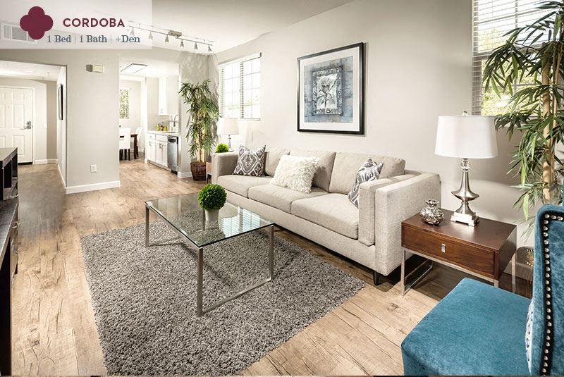 Cordoba - living room at Mission Hills Apartment Homes