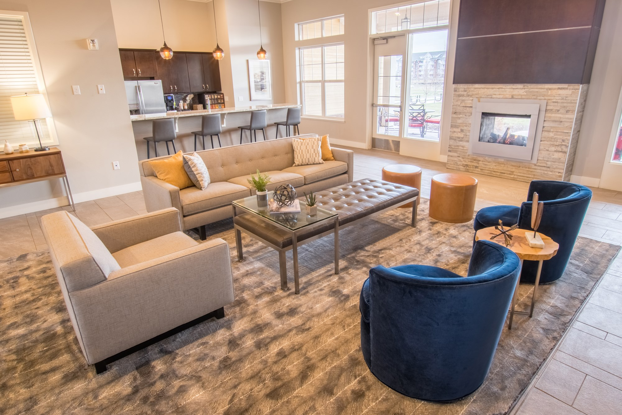 Clubhouse at Skye at Arbor Lakes Apartments in Maple Grove, MN