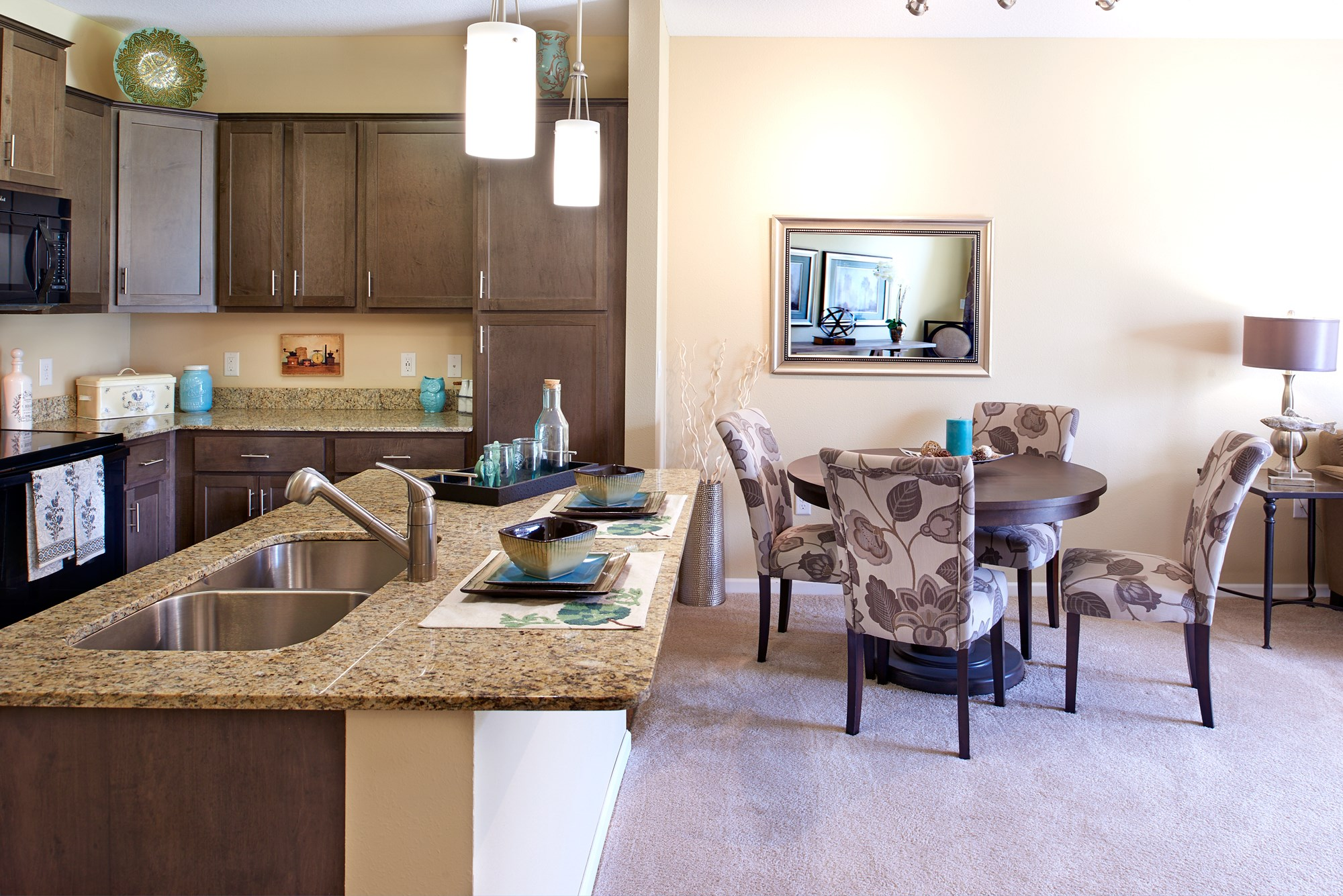 Open Living Spaces at Skye at Arbor Lakes Apartments in Maple Grove, MN