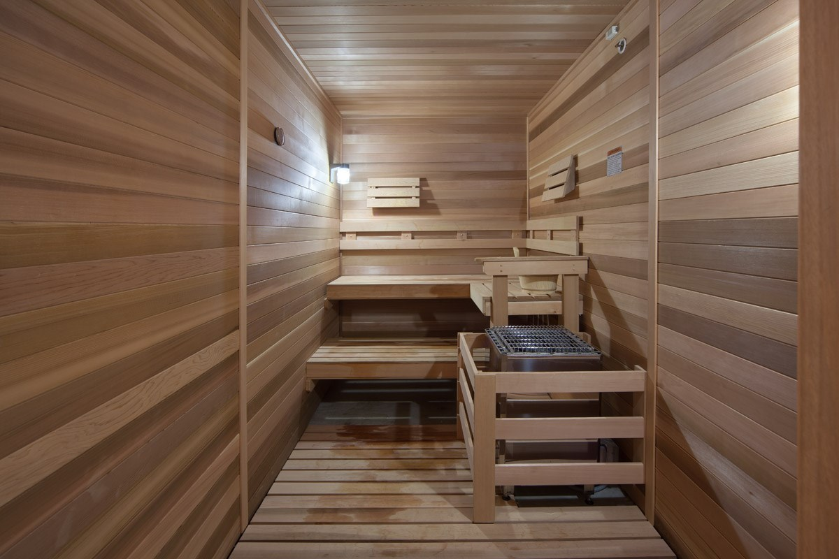 Sauna at Skye at Arbor Lakes Apartments in Maple Grove, MN