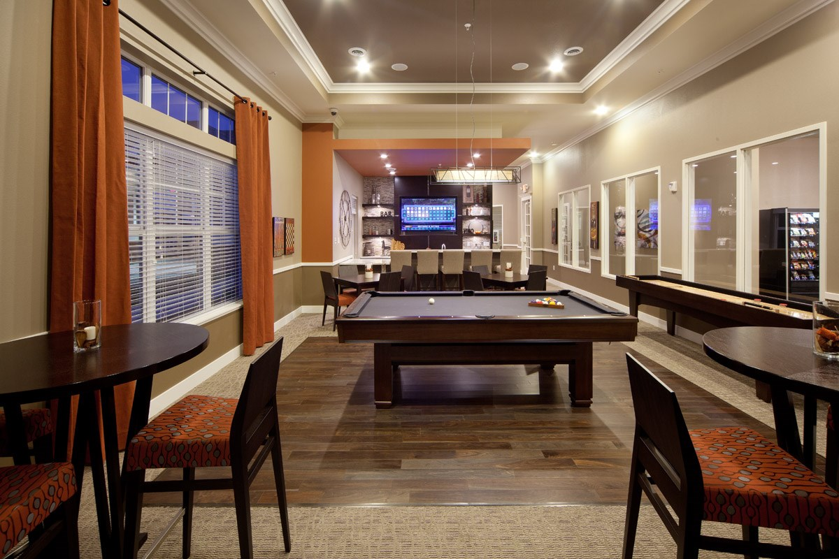 Pub Room at Skye at Arbor Lakes Apartments in Maple Grove, MN