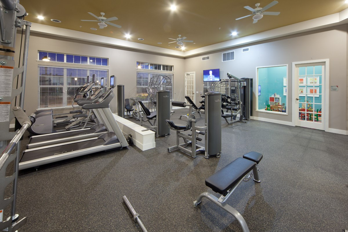 Fitness Center at Skye at Arbor Lakes Apartments in Maple Grove, MN