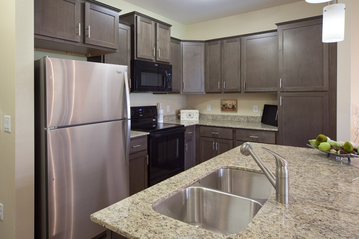 Gourmet Kitchen at Skye at Arbor Lakes Apartments in Maple Grove, MN