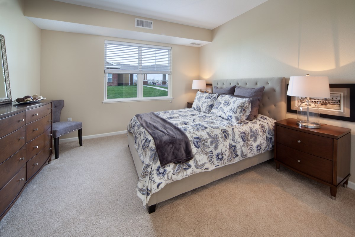Bedroom at Skye at Arbor Lakes Apartments in Maple Grove, MN