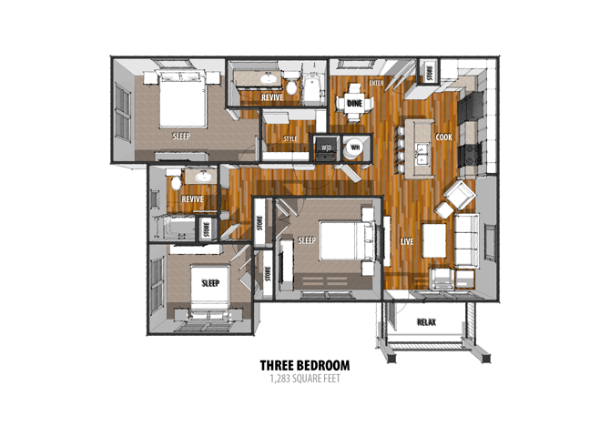 Floor Plan at The Sage, New Braunfels, 78130