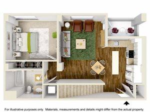 2 Bedroom lobby