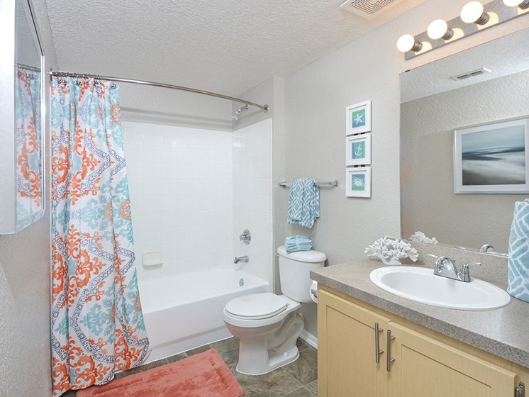 large full bathroom bathtub shower