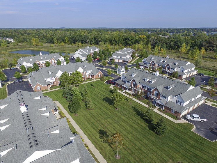 Ariel View of the Westbury Apartment Community