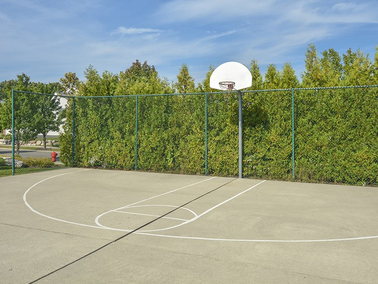 basketball court apartment amenity
