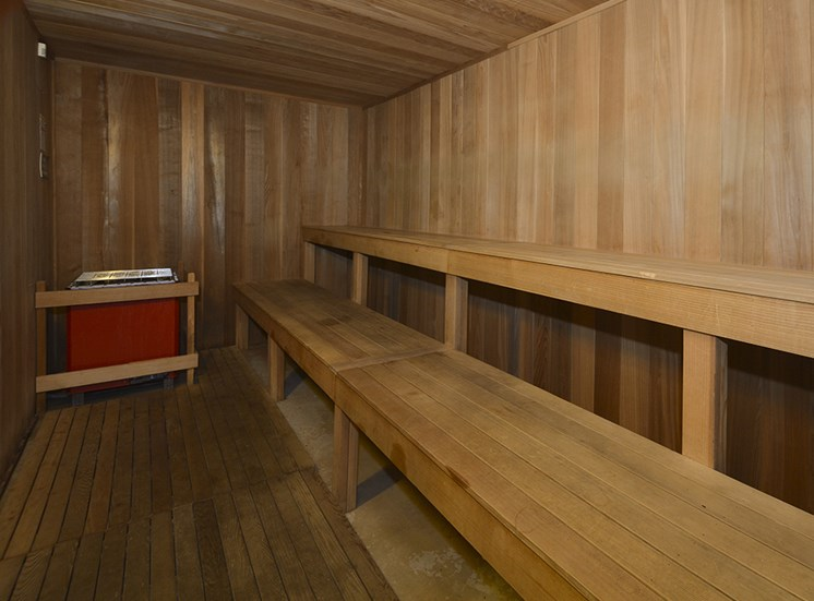 sauna apartment amenity