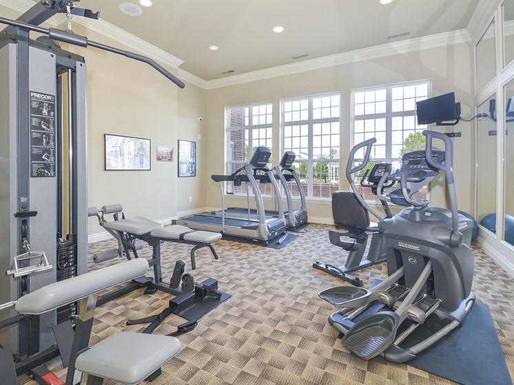 Fully Equipped Fitness Center with Cardio and Strength Training Equipment