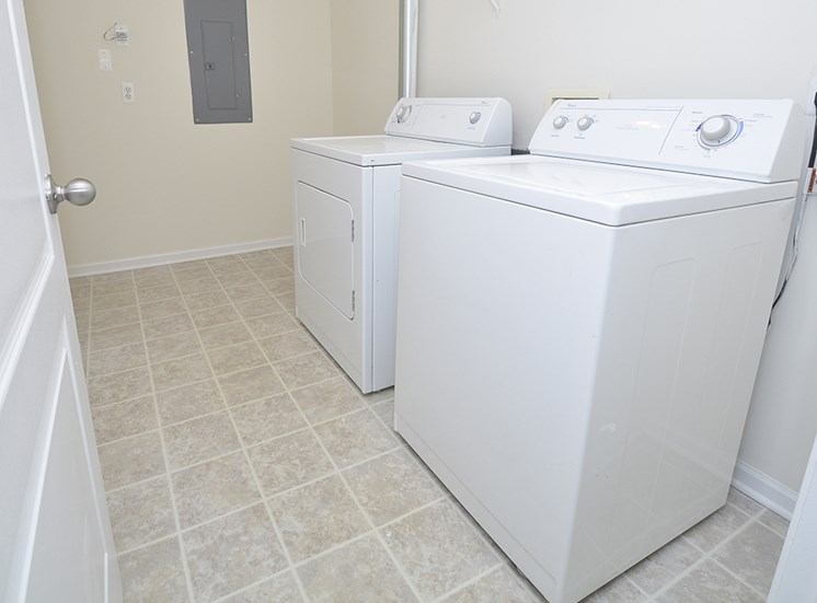 washer dryer each apartment included