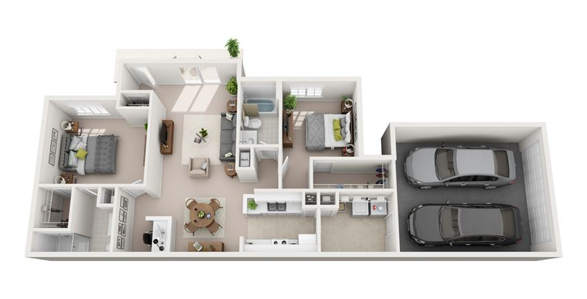 1253 sq.ft Two Bed Two Bath