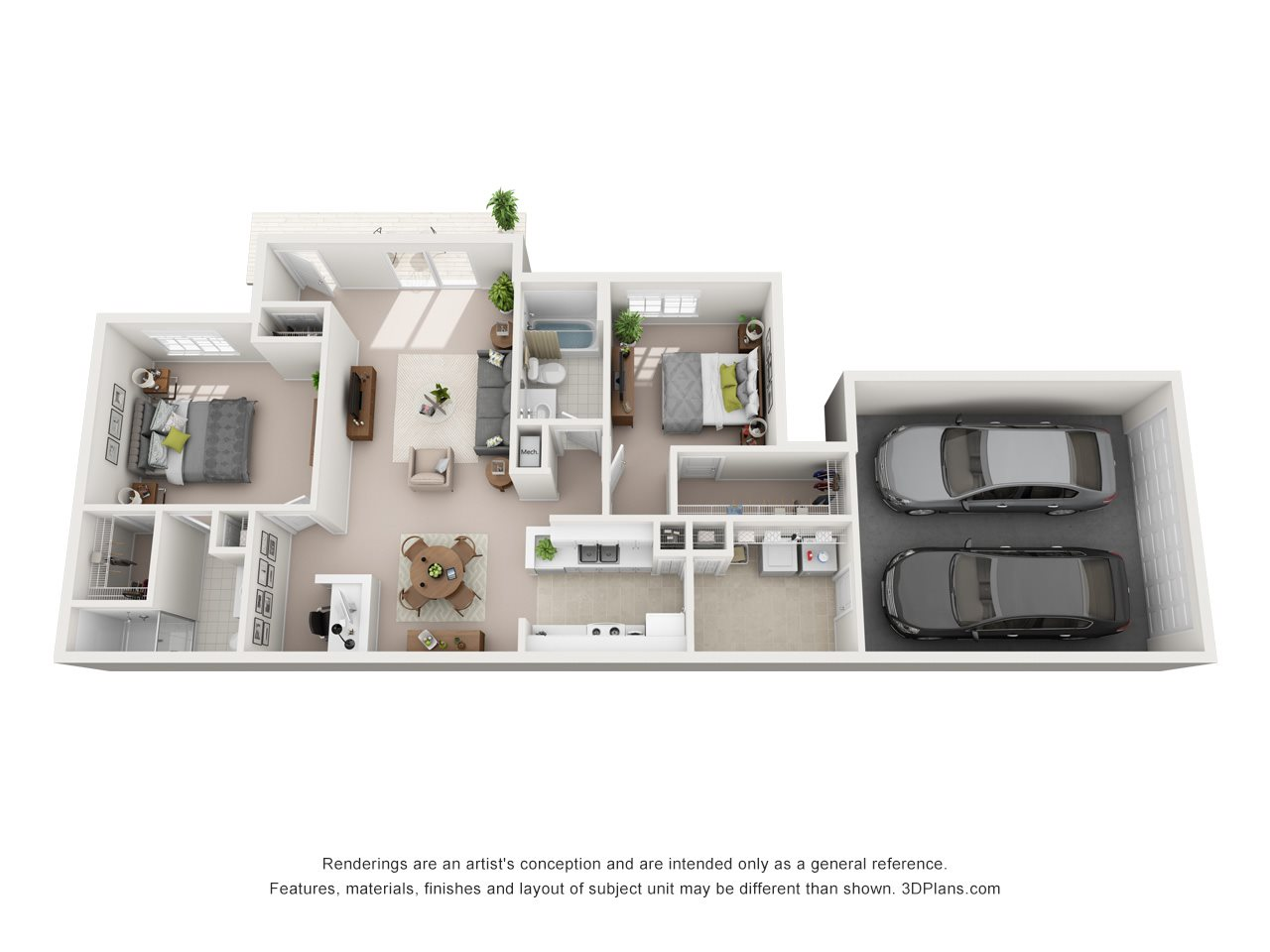 2 Bedroom A Floor Plan 2