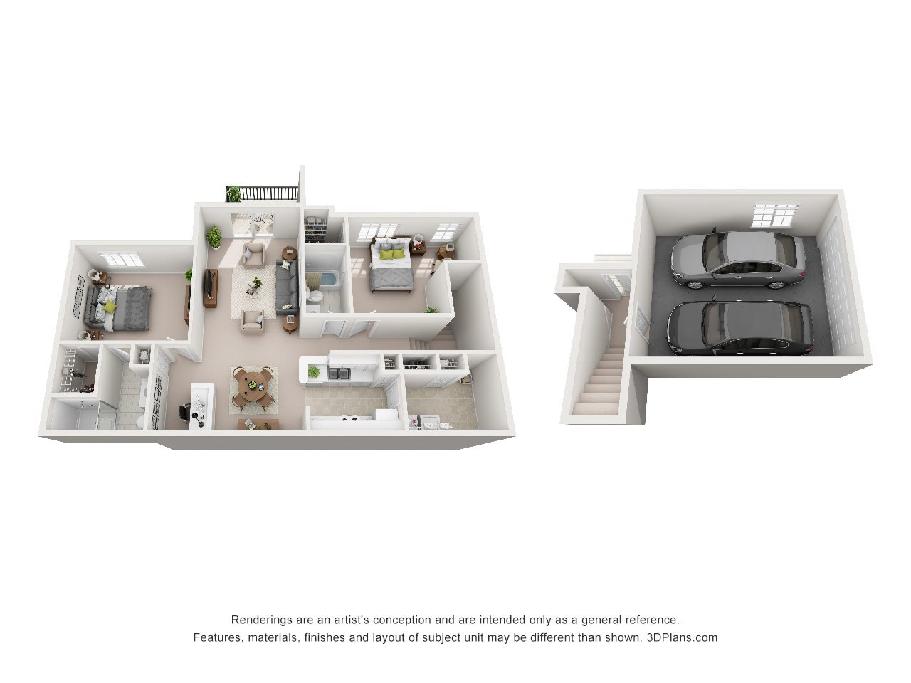 2 Bedroom B Floor Plan 3