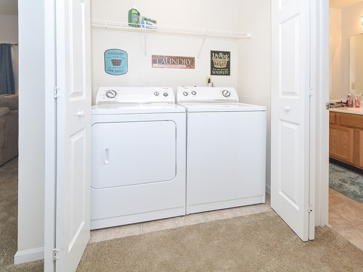 Washing and Dryer Closet