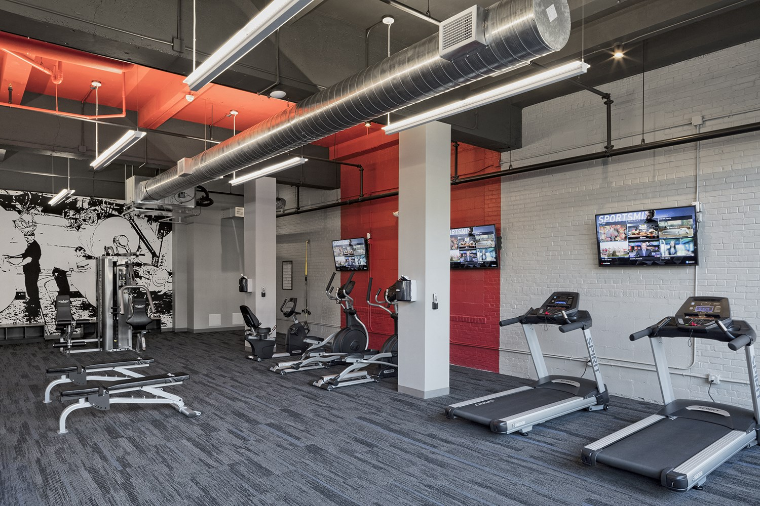 24-Hour Fitness at The News Apartments in Troy, NY