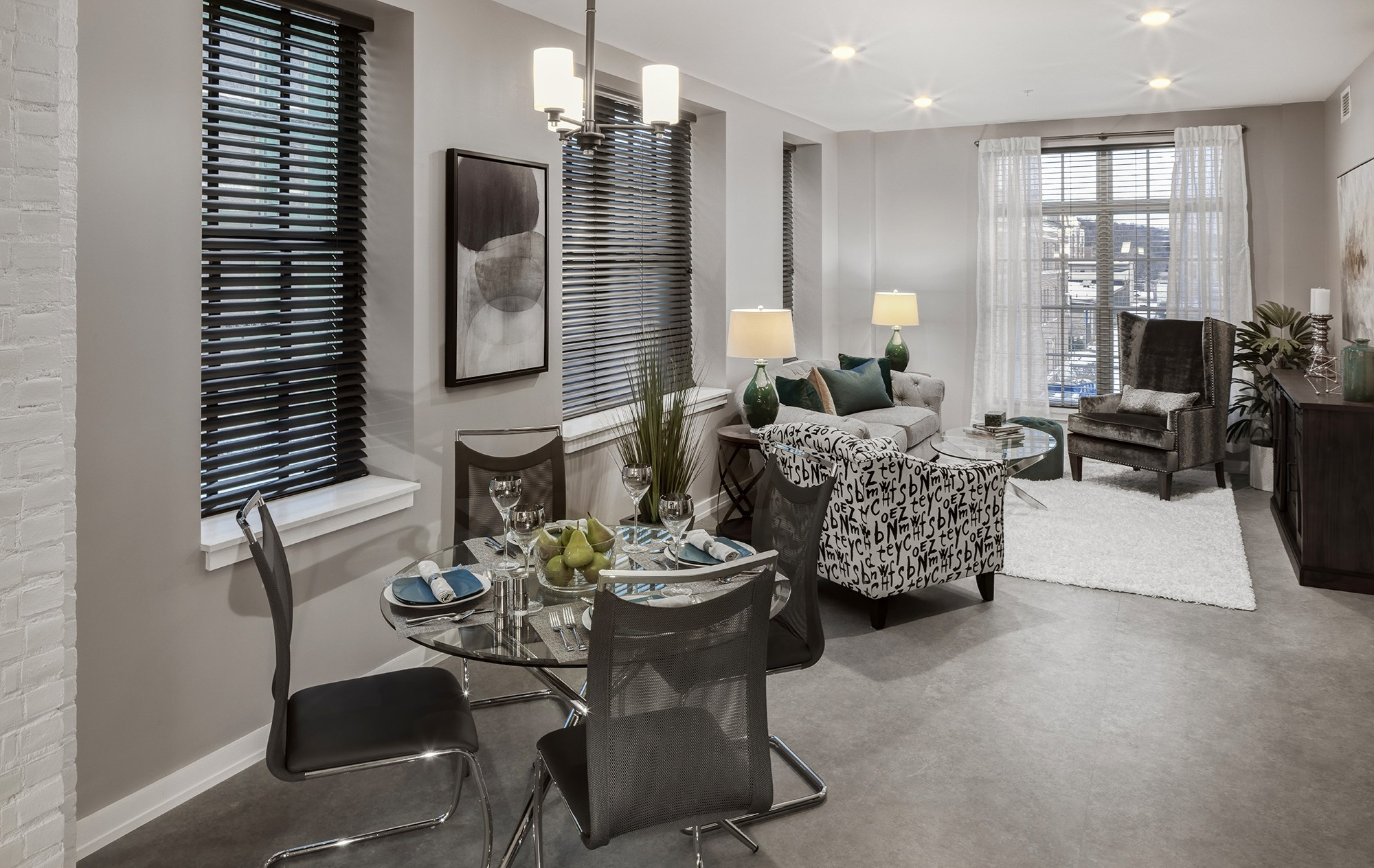 Spacious Dining and Living Areas with Abundant Natural Light. at The News, Troy, NY 12180