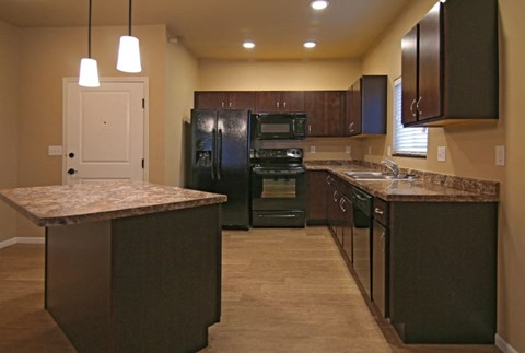 kitchen, kitchen island