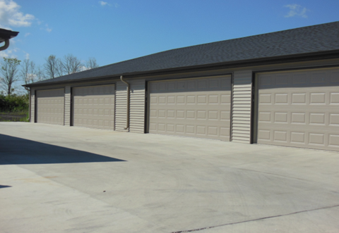 garage, row of garages