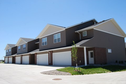 exterior of townhomes, row homes