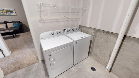 laundry room, washer and dryer