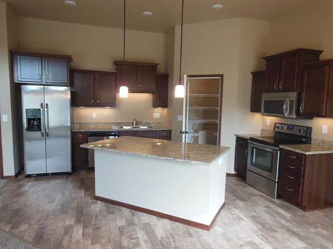 kitchen island, pantry, cabinets, cupboards