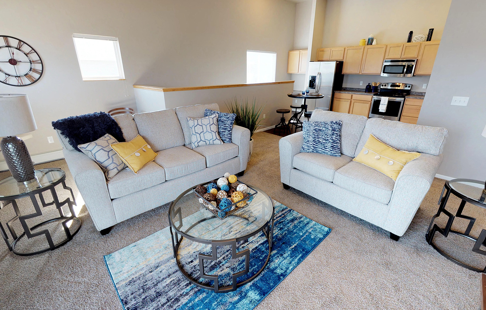 living room, couches