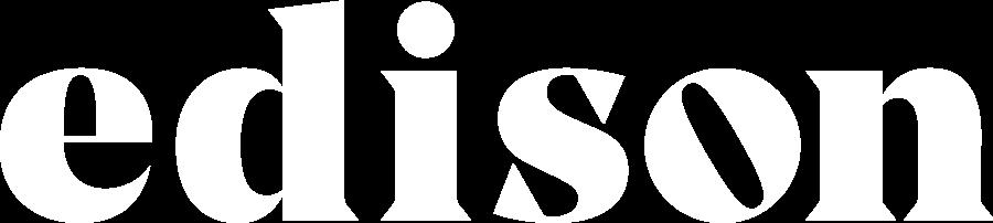 Edison - logo - white