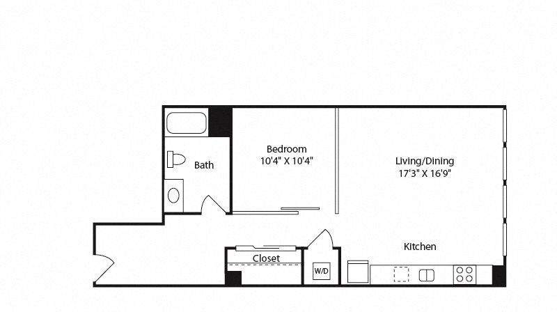 Long Beach, CA Edison Apartments 1 bedroom 1 bath